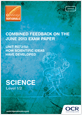 Unit R072/02 - Combined feedback - June 2013 exam paper - cover