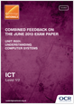 Combined Feedback - R001 June 2013 exam paper - cover