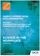 Unit R074 - Sample learner work with commentary - cover