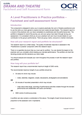 A Level Practitioners in practice portfolios - Factsheet and self-assessment form - Image