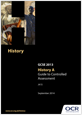 Guide to controlled assessment in History A - cover