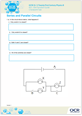 Series and parallel circuits checkpoint task activity - cover