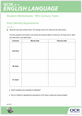 Supporting activities for 19th Century literature set texts delivery guide - Learner activity. - cover