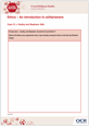 An introduction to utilitarianism - Learner activity - Lesson element - cover