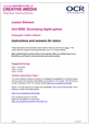 Unit R092 - Using game creation software - Lesson element