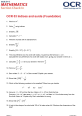 Section Check in - Foundation - OCR 3 Indices and Surds
