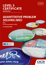 Core Maths - Quantitative Problem Solving (MEI) Level 3 Certificate - H867 front cover