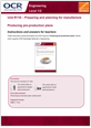 Unit R110 - Producing pre-roduction plans - Teacher instructions - guide cover