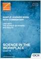 Unit R077 - Sample learner work with commentary - cover