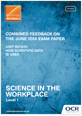 Combined feedback - R075/01 - June 2014 exam paper  - cover