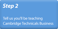 Step 4 - Tell us you'll be teaching A Level Computer Science