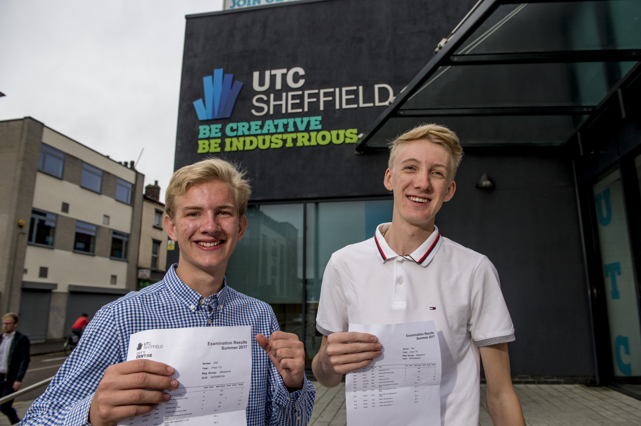 Left to right Oliver Smith & Jake Stuchbury-Wass, UTC Sheffield